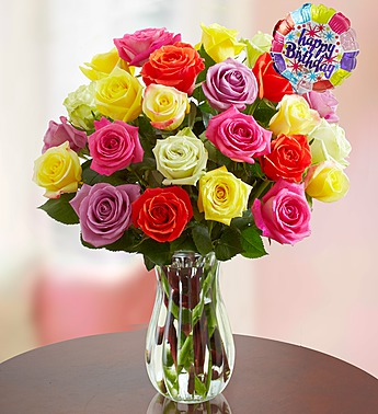 Happy Birthday Roses 12 24 Stems